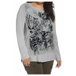 JUST MY SIZE Plus Size Long Sleeve Shirt Top 2X